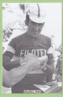 Italo ZILIOLI. Photo. 2 Scans. Filotex - Cyclisme