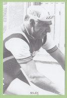Delio SOLER. Photo. 2 Scans. - Cyclisme