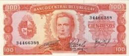 BILLET # URUGUAY # 1967 # 100  PESOS # PICK 47 # BILLET NEUF # - Uruguay