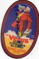 """87 - LIMOGES - ETIQUETTE BRASSERIE MAPATAUD  BIERE """" VENUS """" SUPER CONSERVE BLONDE-- D' APRES P. IGERT - Autres Collections"""