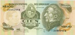 BILLET # URUGUAY # 1987 # 100 NUEVOS PESOS # PICK 62 D # BILLET NEUF # - Uruguay