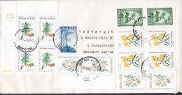 Argentina Mult Franked BUENOS AIRES 1987 Cover Letra To AARHUS Denmark 4-Block W. Margin (2 Scans) - Argentinien