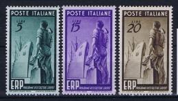 Italy:   Sa 601 - 603  Mi 774 - 776 MH/* - 6. 1946-.. Repubblica