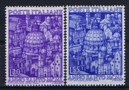 Italy:   Sa 620-621   Mi 793 - 794, MH/* - 6. 1946-.. Repubblica