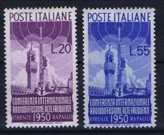 Italy:   Sa 623 - 624    Mi 796 - 797, MNH/** - 6. 1946-.. Repubblica