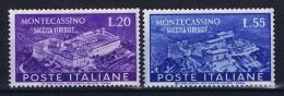 Italy:  Sa 664-665 , Mi 837-838  MNH/** - 6. 1946-.. Repubblica