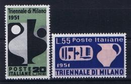 Italy:  Sa 666-667 , Mi 839-840  MH/* - 6. 1946-.. Repubblica