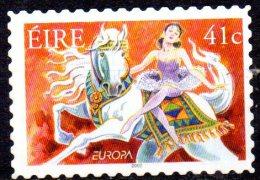 IRELAND 2002 Europa. Circus - 44c. - Girl On Horse  MNG Self-adhesive. Size 37x25 Mm - Nuovi