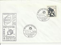 ALEMANIA WESSLING OBERBAY SATELITE ESPACIO 1973 - Cartas