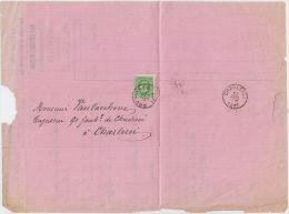 01885a Bruxelles 1877 Facture Au Gland D´Or  75 Marché Aux - Herbes V. Charleroi - 1869-1883 Léopold II