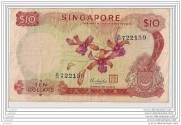 10 Dollars - N° B/74 722159 - Singapour - TTB - - Singapore