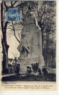 VILLENEUVE Sur YONNE - Monument Aux Morts De La Grande Guerre, Il Est Loeuvre De L'illustre Sculpteur Peynot, Enfant De - Villeneuve-sur-Yonne