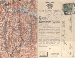 Torino - Rifugio Bartolomeo Gastaldi - Valle D´Ala (Lanzo Torinese)    +    Timbro C. A. I. - Italie