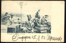 AK     SINGAPORE     GROUP OF  COOLIES   1903. +  SCAN OF BACK SIDE   SEE!!!! - Singapour