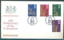 GB - FDC 31.5.1978 - 25th ANNIVERSARY CORONATION SPECIAL POSTMARKS - Mi 765-768 Yv 864-867 SG 1059-1062 - Lot 9206 - 1971-1980 Em. Décimales