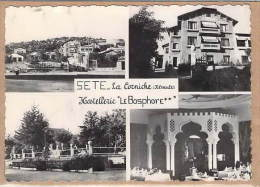 34.SETE.LA CORNICHE.HOSTELLERIE LE BOSPHORE...éd. NARBO.DENTELLÉE.NEUVE - Sete (Cette)