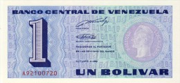 BILLET # VENEZUELA # 1989 # 1 BOLIVAR # PICK 63 # BILLET NEUF # - Venezuela