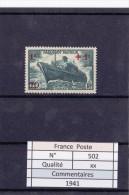 1941 - N° 502  Xx - Unused Stamps