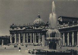 Citte Del Vaticano  -  St. Peter`s Square And Bernini Fountain.  # 02908 - Vatican