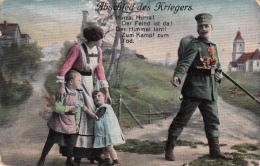 Photocarte Allemande- Abschied Des Kriegers N°6(guerre De 14-18)2scans- Coins Arrondis - War 1914-18