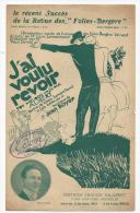 Partition, Musicale, J'ai Voulu Revoir, Fox Mélodie Créé Par ALIBERT, Editions F.Salabert, Frais Fr: 1.60€, - Partitions Musicales Anciennes