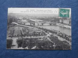 Paris - Panorama Vers Passy - Vue Generale De La Passerellle Du Metropolitain - Ed. CM 148 - Circulée 1911 - L143 - Pariser Métro, Bahnhöfe
