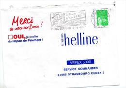 Lettre Flamme Vieux-berquin Memoire Combattant Australien - Postmark Collection (Covers)