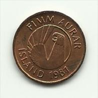 1981 - Islanda 5 Aurar, - Islanda