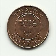 1981 - Islanda 10 Aurar, - Islanda