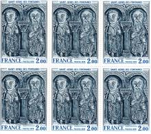 1976 - FRANCE - Tableau Linteau De L'église De Saint-Genis-des-Fontaines - Planche De 6 Timbres N° 1867 - Neufs