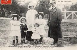 BLERIOT ET SA FAMILLE LE CELEBRE AVIATEUR  QUI A PASSE LE 1 ER SUR  SON MONOPLAN LE DETROIT DU PAS-DE-CALAIS 25/07/1909 - Aviatori