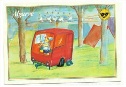 "ALGARVE Comic Cards -nº 7010 - "" Caravaning With Bird Chirping"" - Fumetti"
