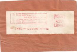 ALGERIE EMA LA MAISON DE LA DATTE SUR FRAGMENT PAQUET POSTE 290F HUSSEIN DEY 9/12/57 - Algeria (1924-1962)