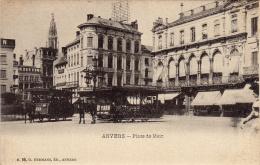 Place De Meir, Trolley Bus, ANVERS, Belgium, 1900-1910s - Antwerpen