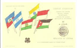 Buvard UPSA  Préfagyl Collection Des Drapeaux Des Nations Unies N°VI - Drogheria