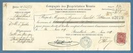 BELGIO   BELGIQUE COMPAGNIE DES PROPRIETIRES REUNIS CON VALORI POSTALI  PERFINS COME FISCALI - 1911 - Documenti Della Posta