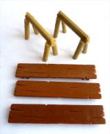 figurine TABLE COMPLETTE MARRON CLAIR - PLAY ASTERIX TOY CLOUD CEJI