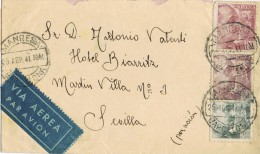 6669. Carta Aerea MANRESA (barcelona) 1941.Franco Perfil - 1931-50 Briefe U. Dokumente