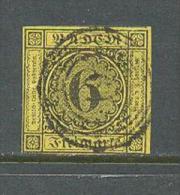 1853 BADEN 6 KR. MICHEL: 7 USED - Baden