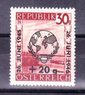 AUSTRIA  1946 ,  United Nations Anniv.    , Y&T  #  633 Cv  4.00   E ,  ** M N H , V V F - 1945-.... 2a Repubblica