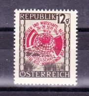 AUSTRIA  1946 ,  Development Congress   , Y&T  #  646 Cv  0.60   E ,  ** M N H , V V F - 1945-.... 2a Repubblica