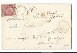 ITALIE FALLETTO CENTALLO AMBULANTE TORINO CUNEO FRANCE MARQUE D´ENTREE 1 FONTAN 1 CONTES 1865 FOSSATI