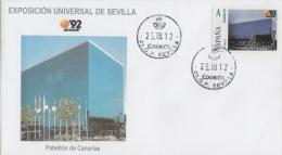 "SPAIN. COVER EXPO'92 SEVILLA. CANARIAS PAVILION. ""TU SELLO"" - 2011-... Lettres"