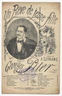 Partition Musicale,Un Rêve De Jeune Fille , Georges Piter, Ed : Emile Benoit, Frais Fr : 1.60€ - Partitions Musicales Anciennes