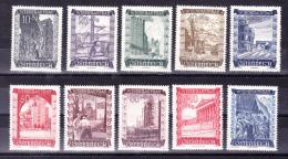 AUSTRIA  1948 ,  Reconstruction   , Y&T  #  712/21    Cv  4.50   E ,  ** M N H , V V F - 1945-.... 2a Repubblica