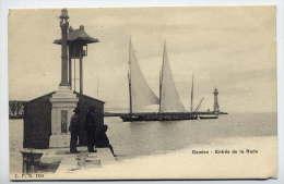 Suisse--GENEVE--Entrée De La Rade (animée,beau Bateau Voilier,phare ) N° 1181 éd CPN--Jolie Carte Précurseur à Saisir - GE Genève