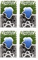 1976 - FRANCE -  Région Limousin  - Planche De  6 Timbres N° 1865 - Neufs