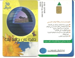Palestine-(pal-13Aa)-clen Environment-(30)-(03/2000-exp-03/2002)-used Card+1 Card Prepiad Free - Palestine