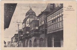 Lima - Casa De La Senora Oquendo. Postally Used, Message, 1921. - Peru