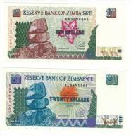 10-20  Dollars  1997, UNC. - Zimbabwe
